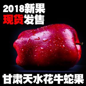 甘肃天水花牛<span class=H>苹果</span> 红蛇果10斤包邮新鲜当季水果整箱刮泥粉面<span class=H>苹果</span>