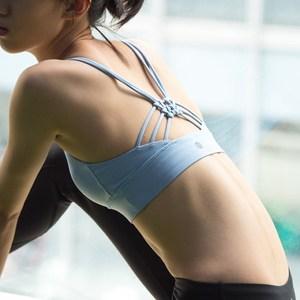 18年新款美女照我去运动 冷色调高支撑镂空美背防震bra跑步瑜伽背