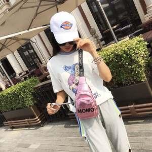 斜挎女包2018新款软PU皮女胸包韩版时尚潮单肩背包休闲运动小后背