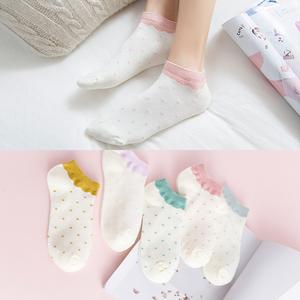 纯棉日系韩版船袜超值10双