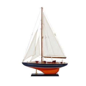 单桅木质帆船模型摆件 拼装 一帆风顺工艺船30cm小<span class=H>木船</span>模型船