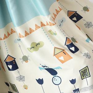 儿童环保遮光<span class=H>窗帘布</span>卡通动漫城堡气球印花窗帘窗纱落地窗飘窗定制