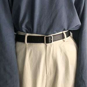 工装裤<span class=H>腰带</span>女酷ins复古女士<span class=H>皮带</span>简约百搭韩国学生黑搭配西装衬衫