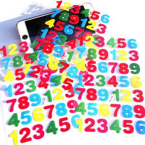 彩色数字不干胶<span class=H>贴纸</span> <span class=H>标签</span> 字母英文<span class=H>贴纸</span> 儿童贴画编号 卡通数字