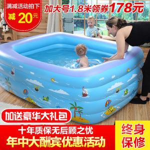 儿童<span class=H>游泳池</span>家用大号成人家庭充气戏水池加厚小孩大号海洋球池室外