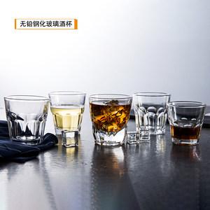 包邮酒吧KTV酒吧威士忌杯<span class=H>玻璃</span>水杯 洋酒白<span class=H>酒杯</span> 钢化啤<span class=H>酒杯</span> <span class=H>八角</span>杯