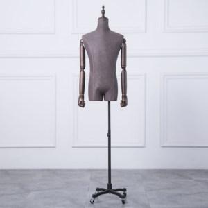 模特道具男装半身西装西服人台橱窗服装店展示架半身假人体模特架