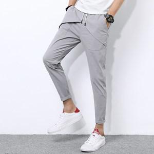 <span class=H>裤子</span>男韩版潮流2017新款夏季休闲裤男修身小脚裤男士松紧腰九分裤