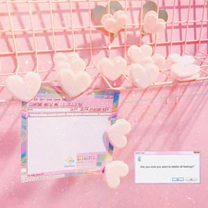 日系软妹爱心粉色可爱少女塑料小<span class=H>夹子</span>装饰照片学生试卷票夹文件夹