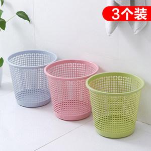 创意家用塑料大小号<span class=H>垃圾桶</span>办公室无盖卧室客厅厨房卫生间厕所纸篓