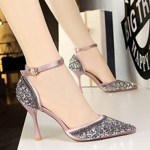<span class=H>凉鞋</span>女夏2018新款网红同款韩版百搭女士包头细跟公主小清新高跟鞋