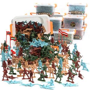 薄利多销二战小兵人士兵军人模型塑料小人<span class=H>玩具</span> 军事战争场景小人