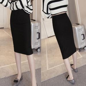 【天天特价】新款大码<span class=H>女</span>装弹力高腰显瘦一步<span class=H>包臀</span>裙OL半身裙中长款
