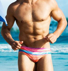 austinBem男士<span class=H>泳裤</span>男式<span class=H>泳裤</span>男时尚彩虹低腰欧美性感冲浪三角短裤
