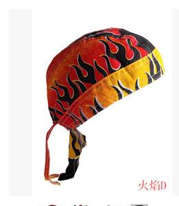 單車頭巾帽海盜帽自行車帽包頭系帶帽街舞嘻哈飄帶廚師帽幼兒園帽