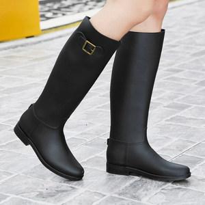夏韩版雨鞋女高筒时尚防雨水鞋胶鞋马丁<span class=H>雨靴</span>户外长筒水靴平底雨鞋