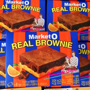 韩国进口零食品好丽友布朗尼蛋糕香橙味巧克力抹茶味96g<span class=H>西式</span><span class=H>糕点</span>