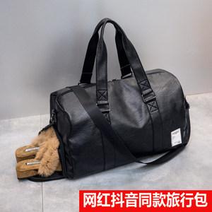 网红旅行包女短途大容量韩版旅行<span class=H>袋</span>防水运动健身包潮男手提行李包