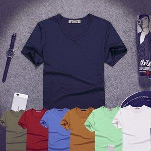 新款便宜包邮9.9元九块九男装圆领修身潮韩版T恤短袖9块特价10元