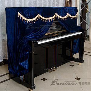 包邮欧式<span class=H>钢琴罩</span>全罩半罩防尘罩加厚防尘罩布艺田园钢琴套韩国