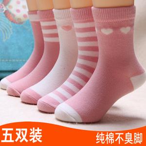 春夏季儿童短袜子春秋夏款女童短袜纯棉婴儿棉袜婴儿宝宝中筒棉袜