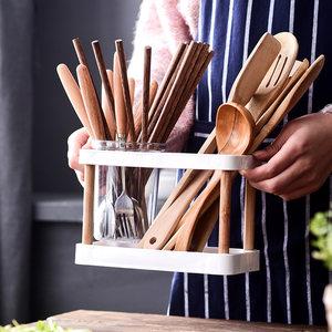 多功能沥水塑料筷子筒 日式家用筷子笼创意厨房筷子架餐具筒快篓