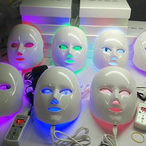 LED面罩彩光<span class=H>面膜</span>家用脸部 红蓝光祛痘印排毒美容院仪器光子嫩肤仪