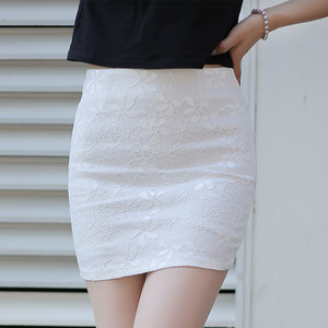 2019夏季一步裙半裙蕾丝半身裙包臀裙女高腰修身职业短裙弹力包裙