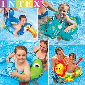intex儿童<span class=H>游泳圈</span>小孩宝宝坐圈3-6-8-10岁男孩女孩腋下加厚救生圈