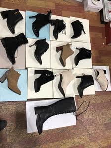 断码真皮女<span class=H>短靴</span>秋靴女2018新款加绒和单里全部真皮选择尺码挑款式
