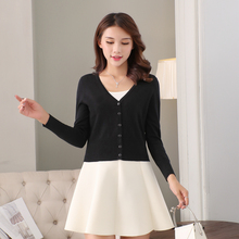Spring and Autumn New Style, Short Style, Thin Outer Sleeve, V-neck Knitted Shirt, Woman's cardigan, Sweater, Small Shawl