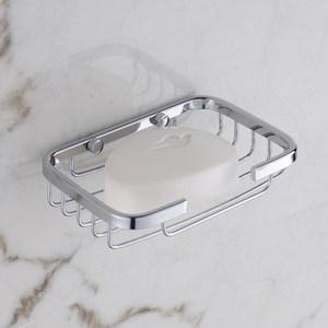 免打孔304不锈钢皂网盒皂碟<span class=H>肥皂</span>架香皂<span class=H>架子</span>浴室壁挂件卫生间厕所