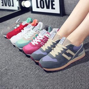 春季韩版运动鞋女鞋学生休闲板鞋n字鞋跑步鞋子女平底<span class=H>单鞋</span>百搭潮