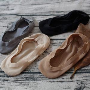 韩版高弹性透气冰丝无痕硅胶防脱落防滑隐形丝袜女船袜不掉跟短袜