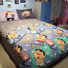 Crayon Xiaoxin Cherry Pills All-cotton Cartoon Three or Four-piece Cotton Quilt Set Children's Bed Linen Ham Bed