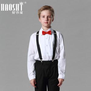 好书童2017秋装儿童西装男童钢琴演出 <span class=H>西服</span>套装黑色花童婚礼礼服