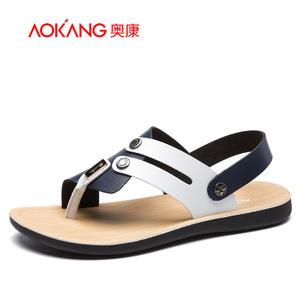 奥康<span class=H>男鞋</span> 夏季新款拼色个性休闲露趾舒适男士凉<span class=H>鞋</span><span class=H>沙滩</span><span class=H>鞋子</span>