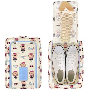 韩国LINE FRIENDS x MONOPOLY旅行<span class=H>鞋子</span>收纳包手提鞋袋V.3