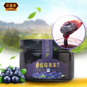 蓝莓<span class=H>果酱</span>230克1瓶 蓝莓酱果肉面包酱刨冰<span class=H>酸奶</span>伴侣来客蜜