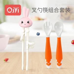 儿童学习训练勺叉学习筷餐具套装