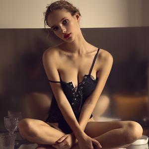 未满性感睡衣女夏蕾丝吊带连体衣薄款大码内衣家居服情趣短可外穿