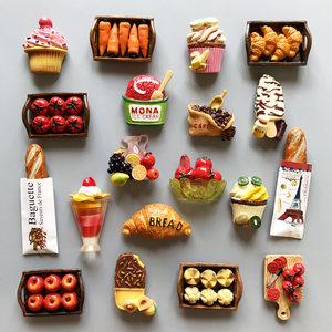 凡趣磁性3D立体<span class=H>日本</span>韩国食物冰箱贴创意甜品磁贴厨房装饰品<span class=H>磁铁</span>