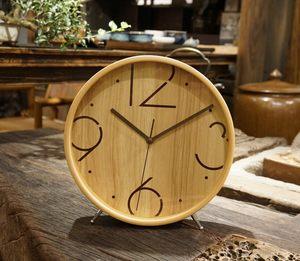 木质座钟<span class=H>摆钟</span>桌面客厅大号简约台钟创意家用台式钟表卧室静音时钟