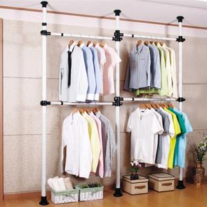 落地挂衣架钢管 卧室简易衣架储物架创意转角<span class=H>衣帽架</span>顶天立地衣架