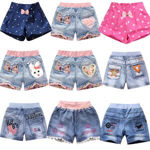 女童牛仔短裤夏季男童2019新款洋气外穿夏装儿童装小女孩百搭薄款