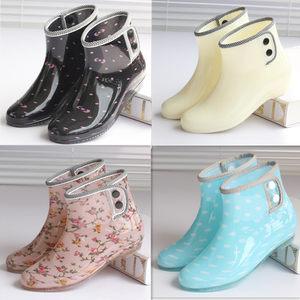 雨鞋短筒韩版时尚<span class=H>雨靴</span>女士防滑套鞋成人水靴防水鞋女外穿加绒胶鞋