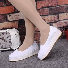 Old Beijing cloth shoes beautician working shoes soft sole female single anti-landslide heel muffin cattle tendon sole small white nurse shoes