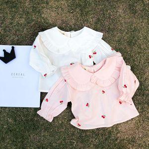 女童春装衬衫长袖宝宝打底衫T恤婴儿上衣纯棉衬衣0-1-3岁韩版春秋