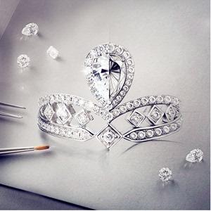 宝石矿工一克拉<span class=H>钻石</span>戒指女gia裸钻定制钻戒正品1克拉求婚结婚戒指