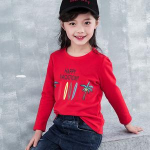 2019新款儿童春装 童装女童长袖<span class=H>T恤</span>春秋打底衫中大童纯棉体恤春季